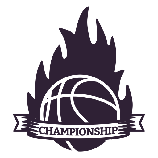 Championship flame fire ball badge