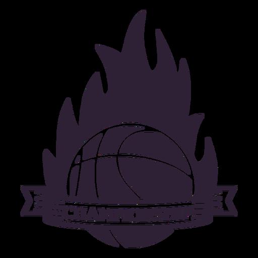 Distintivo de bola de fogo de chama de campeonato Transparent PNG