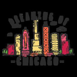 Autocolante de skyline de Chicago