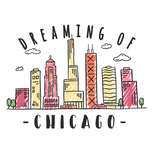 Pegatina del horizonte de chicago Transparent PNG