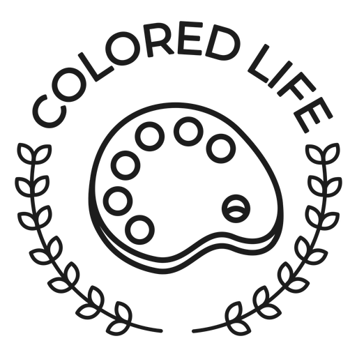 Colored life branch palette badge stroke Transparent PNG