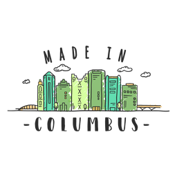 Columbus skyline sticker