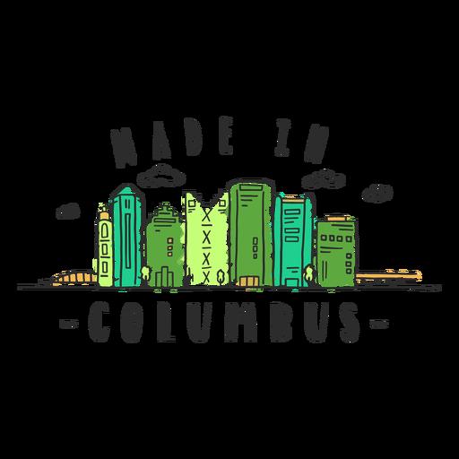 Columbus skyline sticker Transparent PNG