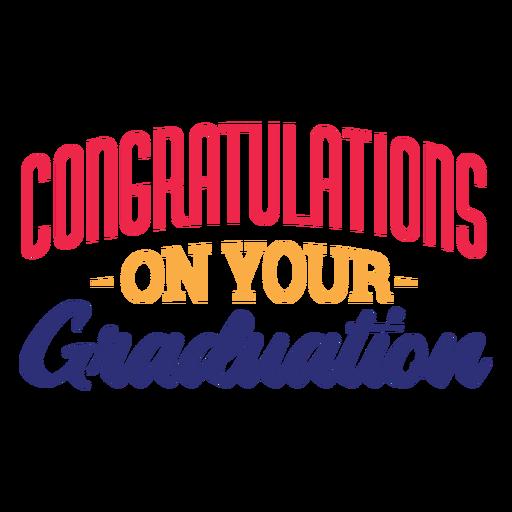 Felicitaciones por tu pegatina de graduaci?n