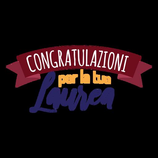 Congratulazioni per la tua laurea ribbon sticker Transparent PNG