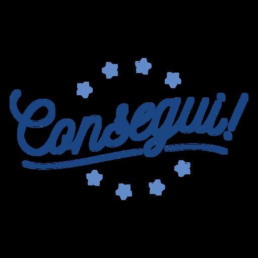 Etiqueta da estrela de Consegui Transparent PNG