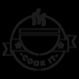 Cocinarlo tazón estrella olor línea de insignia