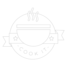 Cozinhe a linha de crachá de cheiro de estrela de tigela