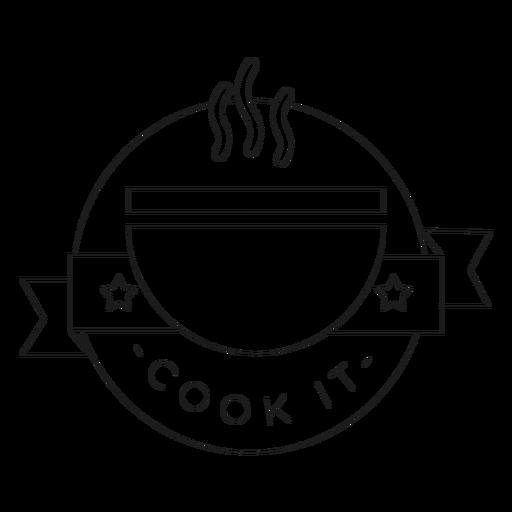 Cocinarlo tazón estrella olor línea de insignia Transparent PNG