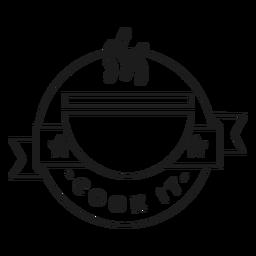 Cocinarlo tazón estrella olor insignia trazo