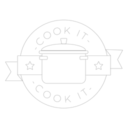 Cocinarla pan estrella con línea de placa.