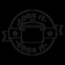 Cozinhe a linha de crachá estrela pan