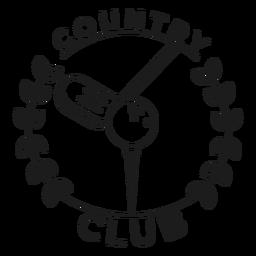 Country club ball branch club badge stroke