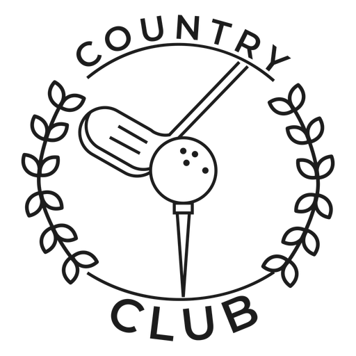 Country club ball branch club badge stroke Transparent PNG