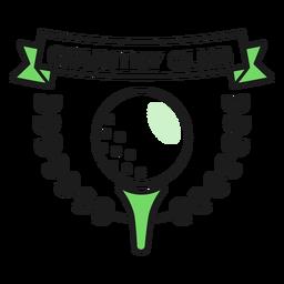 Autocolante de distintivo colorido de bola de clube campestre
