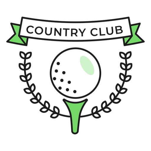 Country club ball branch colored badge sticker
