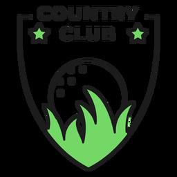 Etiqueta engomada coloreada estrella de la hierba del club de campo