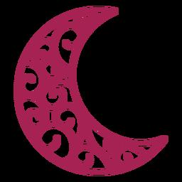 Silueta detallada del patrón de media luna
