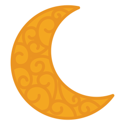 Patrón de media luna plana