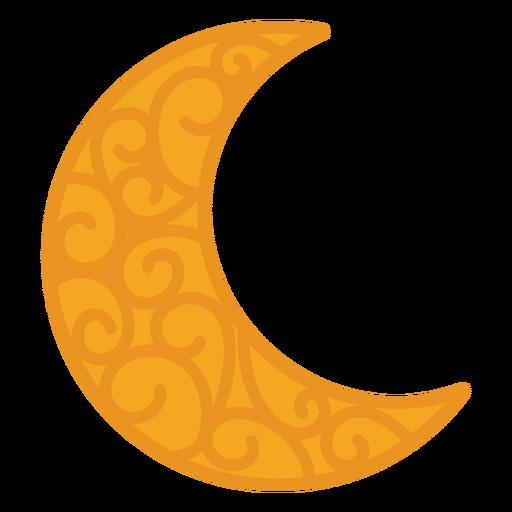 Crescent pattern flat Transparent PNG