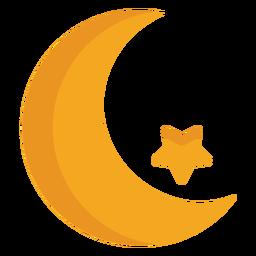 Estrella de media luna plana