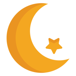 Estrella media luna plana