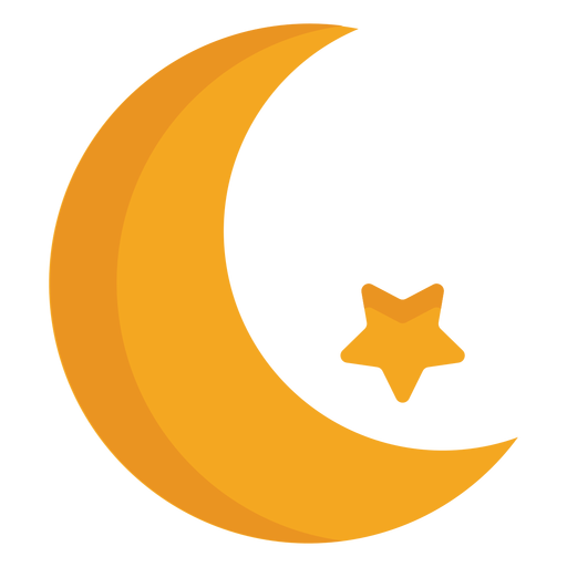 Crescent star flat Transparent PNG