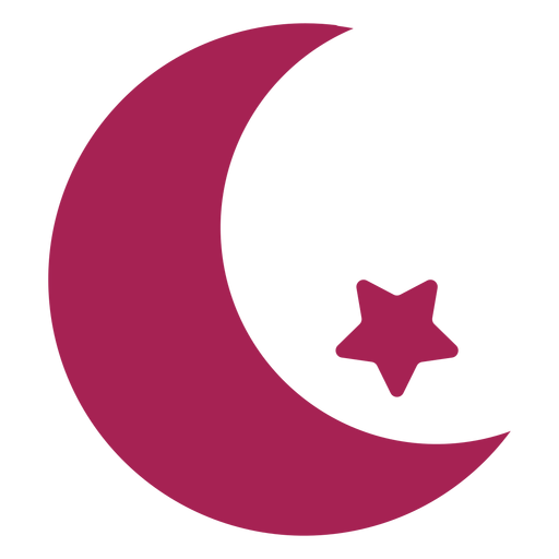 Crescent star silhouette Transparent PNG
