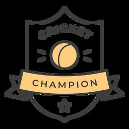 Pegatina insignia de color bola de campeón de cricket