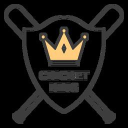 Etiqueta engomada coloreada corona del bate del rey del grillo