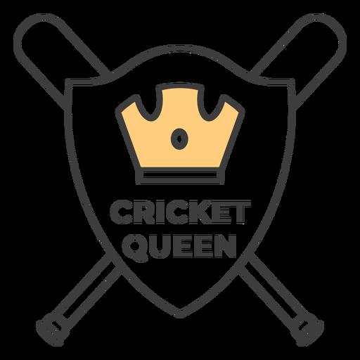 Cricket reina murciélago corona etiqueta coloreada pegatina Transparent PNG