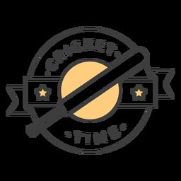 Estrela de morcego de tempo de cricket colorida adesivo de crachá