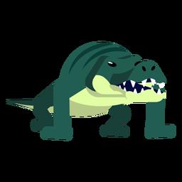 Jacaré de crocodilo listras mandíbulas cauda fang arredondado plana