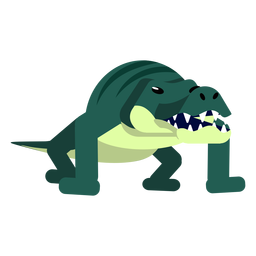 Krokodilkrokodilstreifenbacken Schwanzreißzahn flach gerundet