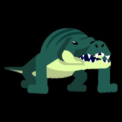 Jacaré de crocodilo listras mandíbulas cauda fang arredondado plana Transparent PNG