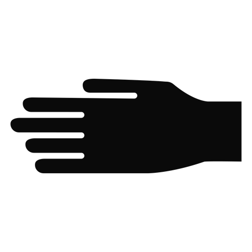 D hand finger arm detailed silhouette Transparent PNG