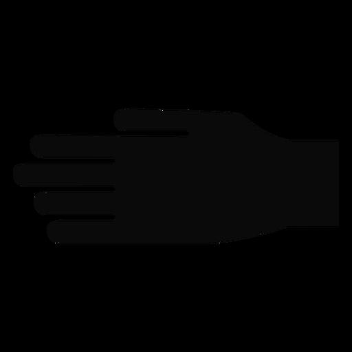 D mão dedo braço silhueta detalhada Transparent PNG