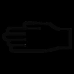 D mão dedo traço do braço