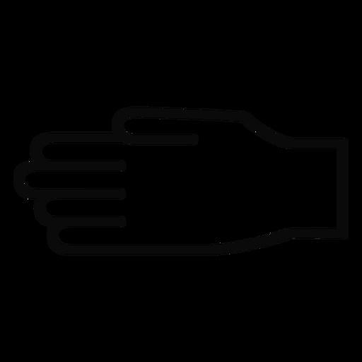 D hand finger arm stroke Transparent PNG