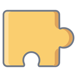 Detalle pieza puzzle plano