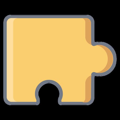 Detalle pieza puzzle plano Transparent PNG