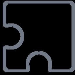 Detail piece puzzle stroke