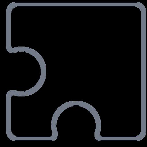 Detail piece puzzle stroke Transparent PNG
