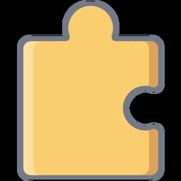 Detalle pieza de puzzle plana
