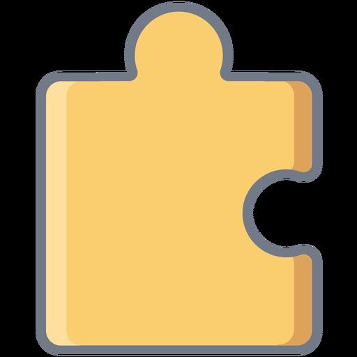 Detalle pieza de puzzle plana Transparent PNG