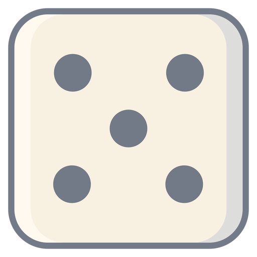 Dice cinco dot edge flat Transparent PNG