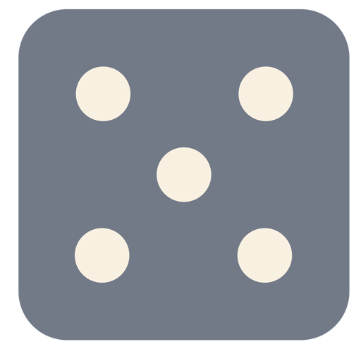 Dice five dot edge silhouette Transparent PNG