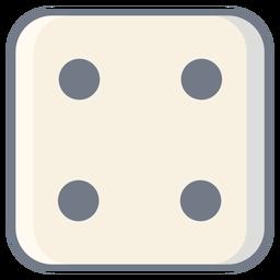 Dice quatro dot edge flat