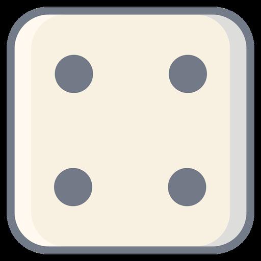 Dice quatro dot edge flat Transparent PNG