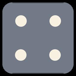 Silhueta de borda de quatro pontos de dados